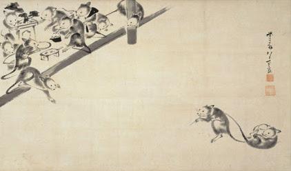 伊藤若冲「鼠婚礼図」