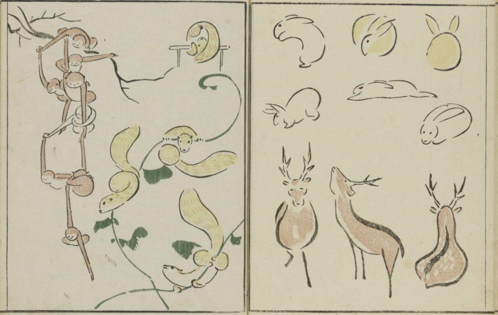 鳥獣略画式