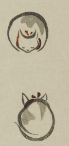 鳥獣略画式猫