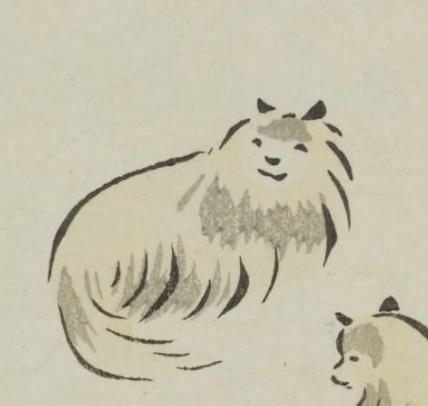 鳥獣略画式犬