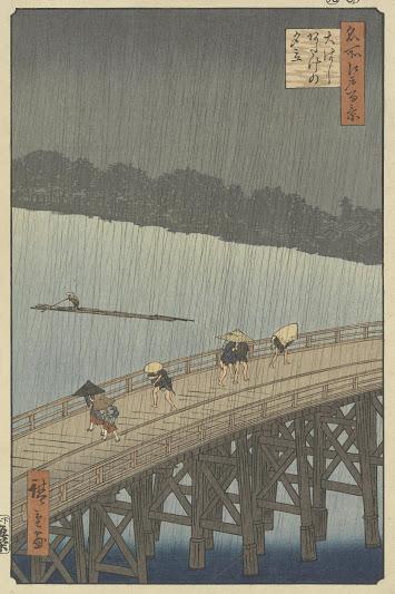 歌川広重・名所江戸百景「大はし あたけの夕立」
