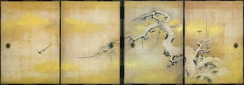 四季花鳥図(雪中梅竹鳥図)