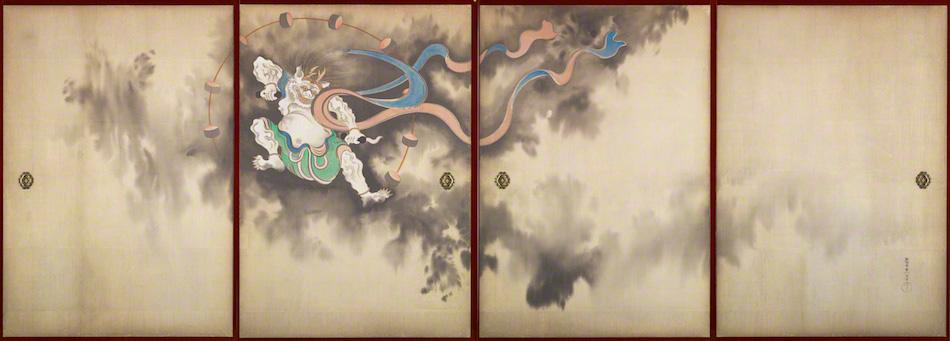 風神雷神図(鈴木其一)左